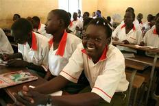 <p>Children in St Joseph's School in Juba work in preparation for examinations in January 2009. REUTERS/Skye Wheler</p>