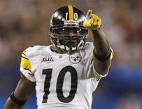 <p>Santonio Holmes dei Pittsburgh Steelers. REUTERS/Gary Hershorn (UNITED STATES)</p>