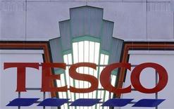 <p>Il logo di Tesco. REUTERS/Toby Melville (BRITAIN)</p>