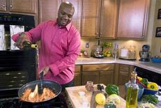 "<p>Chef Aaron McCargo in an undated photo. McCargo is hoping that bold versions of American comfort food will appeal to new fans. The 37-year-old New Jersey native won his own show, ""Big Daddy's House"", on the Food Network in a grueling television competition last year. REUTERS/Food Network/Handout</p>"