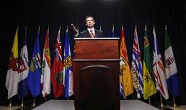 <p>Ontario Premier Dalton McGuinty speaks during a news conference before the start the First Ministers' meeting in Ottawa in this January 15, 2009 file photo. REUTERS/Chris Wattie</p>