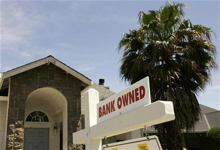 A foreclosed home in California in a May 2008 file photo. REUTERS/Robert Galbraith