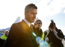 <p>O futuro de David Beckham pode ser decidido na sexta-feira, disse na terça-feira o dirigente Adriano Galliani, do Milan. REUTERS/Christian Charisius</p>