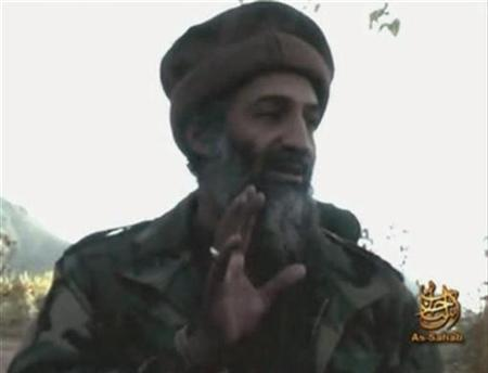 A video grab from an undated footage from the Internet shows Al Qaeda leader Osama bin Laden making statements from an unknown location. REUTERS/REUTERS TV