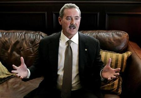 Texan billionaire Allen Stanford is shown during an interview with Reuters in Miami in this May 1, 2008 file photograph. REUTERS/Joe Skipper