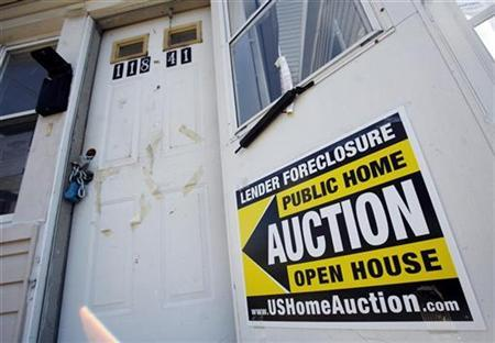 A foreclosed home up for auction is seen in the Queens borough of New York, February 24, 2009. REUTERS/Shannon Stapleton