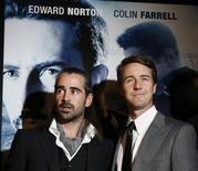 """<p>Colin Farrell e Edward Norton na estréia de """"Força Policial"""" em Nova York REUTERS/Lucas Jackson (UNITED STATES)</p>"""