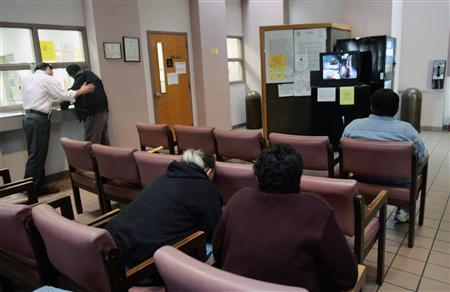 Patients wait for their appointments at the West Jefferson Mental Health Center in Marrero, Louisiana December 8, 2005. REUTERS/Lee Celano