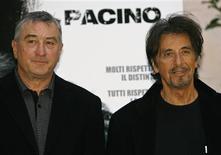 """<p>Os atores Robert De Niro e Al Pacino abriram processo judicial na quarta-feira contra uma distribuidora de filmes e uma fábrica de relógios por causa de anúncios publicitários de 2008, vinculados ao filme """"As Duas Faces da Lei"""". REUTERS/Dario Pignatelli (ITÁLIA)</p>"""