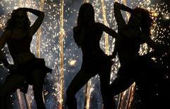<p>Prove per la semifinale dell'Eurofestival nel 2007. REUTERS/Bob Strong</p>