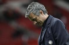 <p>Técnico do Milan, José Mourinho, em foto de arquivo. O ténico se recusou a comentar alegações de agressão. REUTERS/Max Rossi</p>