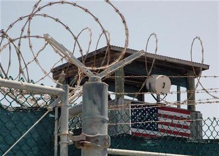 A guard tower is pictured at the Camp Delta detention center for terrorism suspects at Guantanamo Bay, Cuba, July 23, 2008. REUTERS/Randall Mikkelsen