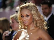 <p>Actress/model Tyra Banks arrives at the 35th Annual Daytime Emmy Awards at the Kodak theatre in Hollywood, California June 20, 2008. REUTERS/Phil McCarten</p>