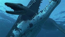 <p>Una ricostruzione immaginaria del mostro marino di cui è stato scoperto il fossile nell'Artico. REUTERS/Ho</p>