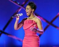 "<p>The eighth season of ""American Idol"" is now down to these final 10: Lil Rounds. REUTERS/FOX/Handout</p>"
