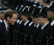 <p>Britain's Prince William reviews a passing out parade at the Metropolitan Police Hendon training college in northwest London in this file photo from March 6, 2009. REUTERS/Andrew Winning</p>