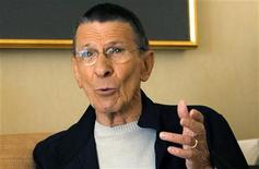 "<p>Actor Leonard Nimoy gestures during an interview for the 40th anniversary of the science-fiction television series ""Star Trek"" in Los Angeles August 9, 2006. REUTERS/Mario Anzuoni</p>"