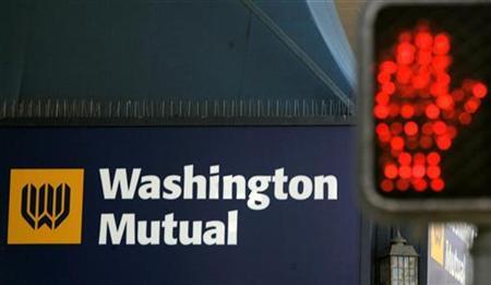 A sign at a Washington Mutual Bank (WaMu) branch is shown in San Francisco, California September 26, 2008.REUTERS/Robert Galbraith