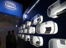 <p>Uno stand Intel ad una fiera elettronica.REUTERS/Rick Wilking</p>