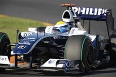 <p>Piloto da Williams da Fórmula 1 Nico Rosberg, no treino para o GP de abertura, em Melbourne. 27/03/2009. REUTERS/Mark Horsburgh</p>