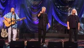 "<p>Members of the music group ""Crosby, Stils and Nash"" (L-R) Stephen Stills, Graham Nash and David Crosby perform during the taping of ""The Tonight Show with Jay Leno"" September 18, 2001 at the NBC studios in Burbank. REUTERS/Fred Prouser</p>"
