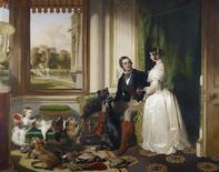 <p>Sir Edwin Landseer's 'Windsor Castle in Modern Times' (1840-43) is seen in this undated handout image. REUTERS/The Royal Collection/2009 Her Majesty Queen Elizabeth II/Handout</p>