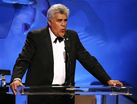 Comedian Jay Leno hosts the 30th Carousel of Hope gala in Beverly Hills, California October 25, 2008. REUTERS/Mario Anzuoni