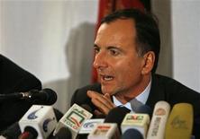 <p>Il ministro degli Esteri Franco Frattini. REUTERS/Omar Sobhani</p>