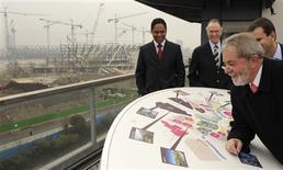 <p>Presidente do Brasil, Luiz Inácio Lula da Silva, no Parque Olímpico de Stratford para os Jogos Olímpicos de 2012, em Londres. 03/04/2009. REUTERS/Toby Melville</p>