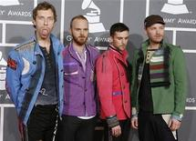 <p>Members of the band Coldplay, Chris Martin, Will Champion, Guy Berryman and Jonny Buckland (L-R), arrive at the 51st annual Grammy Awards in Los Angeles February 8, 2009. REUTERS/Danny Moloshok</p>