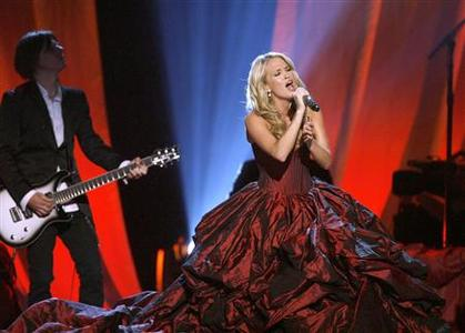 Carrie Underwood performs ''I Told You So'' at the 44th Annual Academy of Country Music Awards in Las Vegas April 5, 2009. REUTERS/Mario Anzuoni