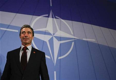 Danish Prime Minister Anders Fogh Rasmussen addresses the media during his news conference after the NATO summit in Strasbourg, April 4, 2009. REUTERS/Fabrizio Bensch