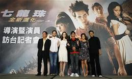 "<p>Director James Wong poses with cast members Justin Chatwin of Canada, Emmy Rossum of the U.S., South Korean artiste Park Joon-hyung, Jamie Chung of the U.S. and Hong Kong-born actor Chow Yun-Fat (L-R) during a news conference for the movie ""Dragonball Evolution"" in Taipei February 17, 2009. REUTERS/Nicky Loh</p>"