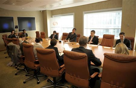 An office meeting in a boardroom in a file photo. REUTERS/File