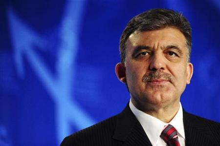 Turkey's President Abdullah Gul attends the European Business Summit in Brussels March 26, 2009. REUTERS/Eric Vidal