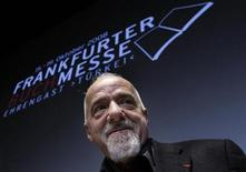 <p>Brazilian author Paulo Coelho looks on during his arrival for the opening news conference of the Frankfurt book fair, October 14, 2008. REUTERS/Alex Grimm</p>