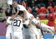 <p>Zagueiro Pepe do Real Madrid comemora gol contra o Real Mallorca. 11/01/2009. REUTERS/Dani Cardona</p>