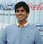"""<p>Performer Anoop Desai poses at the party for the 12 finalists of the television show """"American Idol"""" in Los Angeles March 5, 2009. REUTERS/Mario Anzuoni</p>"""