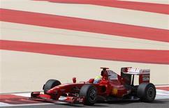<p>Felipe Massa, da Ferrari, durante os testes desta sexta-feira em Manama: presidente da escuderia irá acompanhar equipe durante GP no domingo. REUTERS/Hamad I Mohammed</p>
