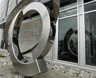 <p>The Nortel logo is seen outside their head office in Toronto May 6, 2008. REUTERS/Mike Cassese</p>