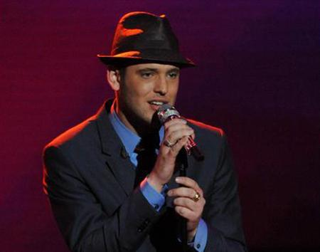 ''American Idol'' contestant Matt Giraud sings his rendition of ''My Funny Valentine'' on the show, April 29, 2009. REUTERS/Frank Micelotta/Fox/Handout