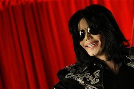 U.S. pop star Michael Jackson gestures during a news conference at the O2 Arena in London in this file photo from March 5, 2009. REUTERS/Stefan Wermuth
