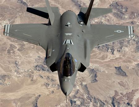 The F-35 Joint Strike Fighter in an undated image. REUTERS/Handout