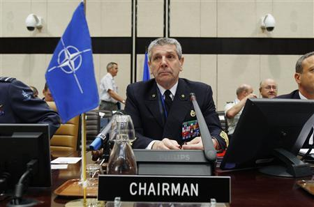 Chairman of the NATO Military Committee Admiral Giampaolo Di Paola is seen at the start of a NATO Chiefs of Defence meeting at the Alliance headquarters in Brussels May 6, 2009. REUTERS/Francois Lenoir