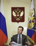 <p>Президент РФ Дмитрий Медведев в своей резиденции в Завидово 24 апреля 2009 года. Год Дмитрия Медведева в кресле президента России не дал ответа на вопрос, последуют ли за сменой стиля перемены в политике. REUTERS/RIA Novosti/Pool</p>