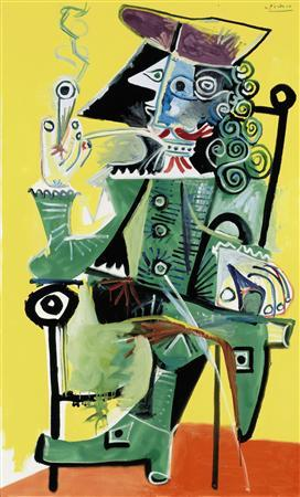 Picasso's ''Musketeer with pipe,'' is seen in this undated handout photo. REUTERS/Christie's/Handout