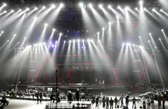 <p>General view of the stage during rehearsals for the Eurovision Song Contest in Moscow May 6, 2009.REUTERS/Sergei Karpukhin</p>