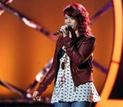"<p>""American Idol"" contestant Allison Iraheta performs in an undated photo. REUTERS/Fox/Handout</p>"