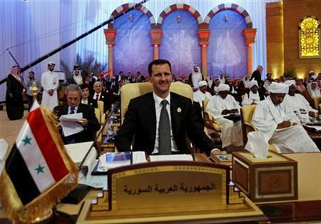Syria's President Bashar al-Assad attends the final session of an Arab summit in Doha March 30, 2009. REUTERS/Ahmed Jadallah