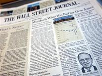 <p>Wall Street Journal, micropagamenti per news online. REUTERS/Mike Segar</p>